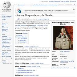 L'Infante Marguerite en robe blanche