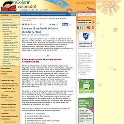 Leer en el jardín de infantes (kindergarten)
