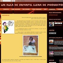 UN AULA DE INFANTIL LLENA DE PROYECTOS: PERIODICO