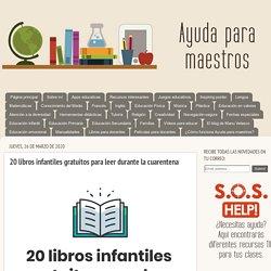 20 libros infantiles gratuitos para leer durante la cuarentena