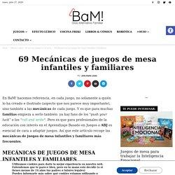 69 Mecánicas de juegos de mesa infantiles y familiares