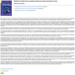 INVS 10/05/04 Morbidité et mortalité dues aux maladies infectieuses d'origine alimentaire en France