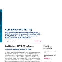 Infection au nouveau Coronavirus (SARS-CoV-2), COVID-19, France et Monde