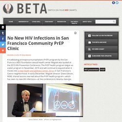 No New HIV Infections in San Francisco Community PrEP Clinic