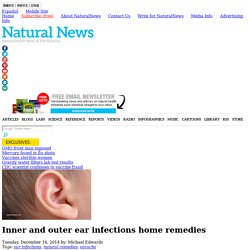 Inner and outer ear infections home remedies