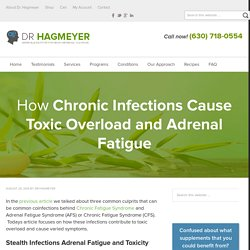How Infections Cause Toxic Overload and Cause Fatigue, Brain Fog, Insomnia