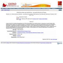 OATAO - 2002 - Infections dues aux hantavirus : cas particulier de la France