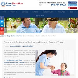 Common Infections in Seniors and How to Prevent Them