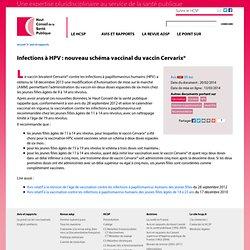 Infections à HPV : nouveau schéma vaccinal du vaccin Cervarix®