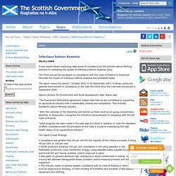 SCOTTISH EXECUTIVE 06/01/04 Infectious Salmon Anaemia