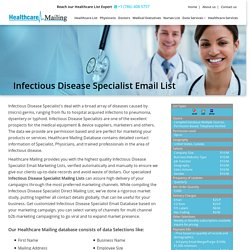Infectious Disease Specialist Email List
