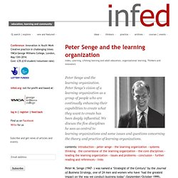 peter senge and the theory and practice of the learning organization
