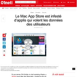 Le Mac App Store est infesté d'applis qui volent les données des utilisateurs