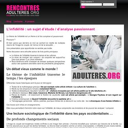 Site rencontres extraconjugales