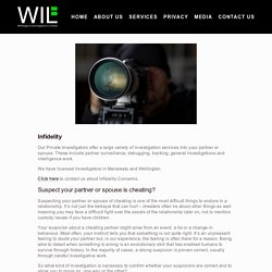 Infidelity or Partner Trust Issues — Wellington Investigations