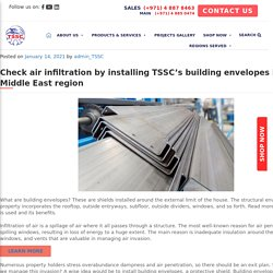 Check air infiltration by installing TSSC's building envelopes in the Middle East region - TSSC - Technical Supplies and Services Co LLC