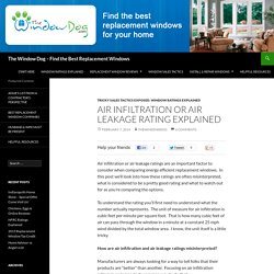 Air Infiltration or Air Leakage Rating Explained - The Window Dog - Find the Best Replacement Windows