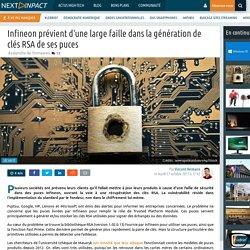 Infineon prévient d'une large faille dans la génération de clés RSA de ses puces