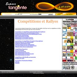 Espace Jeux d'Infinimath - Tangente - Editions POLE - Logique - Stratégies - Tarot - Echecs
