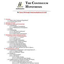 Infinite Ink: The Continuum Hypothesis by Nancy McGough
