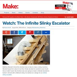 Watch: The Infinite Slinky Escalator — Woodworking