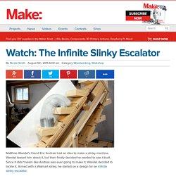 Watch: The Infinite Slinky Escalator —Woodworking