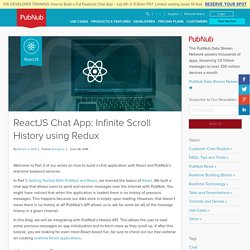 React Chat App: Infinite Scroll History with Redux