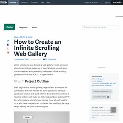 how to create one page scrolling website
