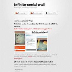 Infinite-social-wall by philipbjorge