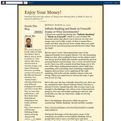 Infinite Banking and Bank on Yourself: Scams or Wise Investments?