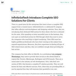 InfiniteSoftech Introduces Complete SEO Solutions For Clients