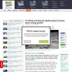 To infinity and beyond: Apollo project to boost green energy growth