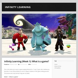 Infinity Learning (Week 1): What is a game?