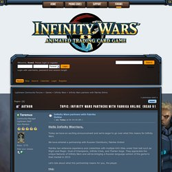 Infinity Wars partners with Fabrika Online