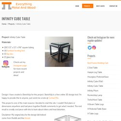 Infinity Cube Table - Everything Metal and Wood