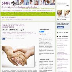 Infirmière en EHPAD : fiche de poste