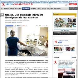 Nantes. Des étudiants infirmiers témoignent de leur mal-être