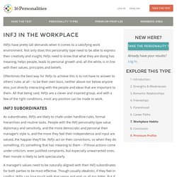 INFJ in the Workplace
