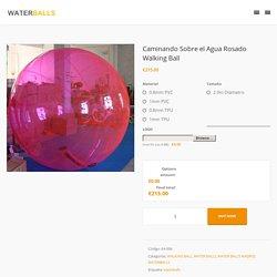 Inflable Walking Ball para pasear sobre el Agua