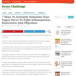 7 Ways To Instantly Stimulate Your Vagus Nerve To Fight Inflammation, Depression And Migraines – Green Challenge
