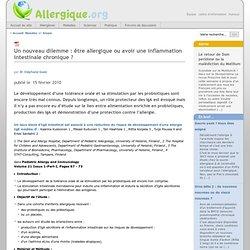 Un nouveau dilemme: être allergique ou avoir une inflammation intestinale chronique?