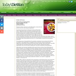 Inflammation and Osteoarthritis - Today's Dietitian Magazine