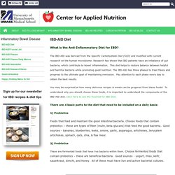 IBD Anti-Inflammatory Diet - Center for Applied Nutrition at UMass Medical School