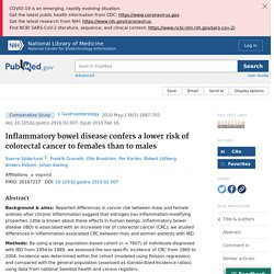 Inflammatory bowel disease confers a lower risk of colorectal cancer to females than to males - PubMed