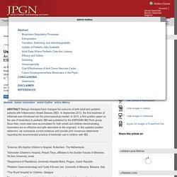 Use of Biosimilars in Pediatric Inflammatory Bowel Disease:... : Journal of Pediatric Gastroenterology and Nutrition