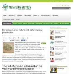 Hemp seeds are a natural anti-inflammatory powerhouse
