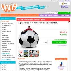 Giant Inflatable Soccer Ball: 6 feet in diameter!