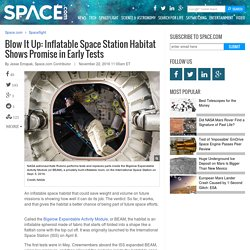 Blow It Up: Inflatable Space Station Habitat Shows Promise in Early Tests