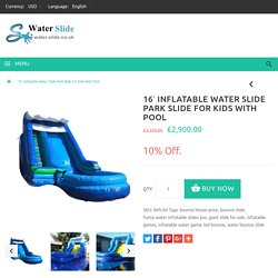 16' Inflatable Water Slide Park Slide for Kids With Pool
