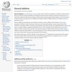 Eternal inflation